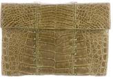 Nancy Gonzalez Stitched Alligator Clutch