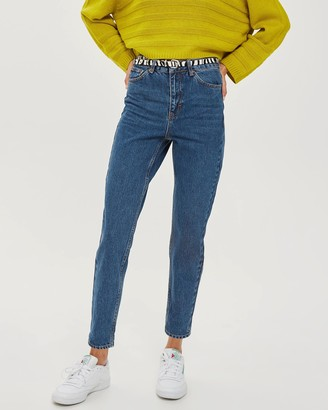 Topshop Rich Blue Mom Jeans