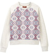 7 For All Mankind Printed Pop Over Sweatshirt (Little Girls)