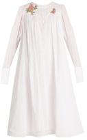 Natasha Zinko Floral-appliqué cotton-voile dress