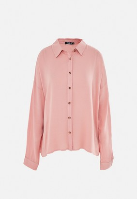 Missguided Blush Cheesecloth Oversized Shirt