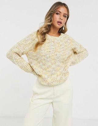JDY textured jumper in cream