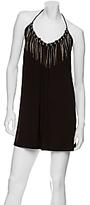 Metal Fringe Jersey Halter Dress