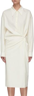 Lemaire Twisted cotton shirt dress