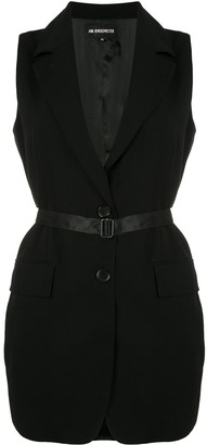 Ann Demeulemeester Belted Tailored Waistcoat