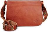 Patricia Nash Strapped Vintage Rosa Saddle Bag