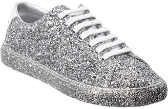 Saint Laurent Andy Crystal Glitter & Leather Sneaker