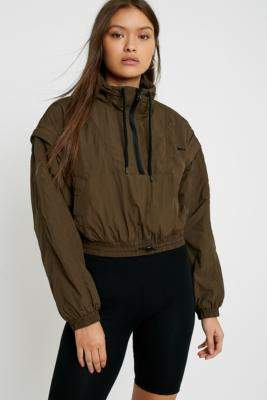 Urban Outfitters Iets Frans... iets frans. Half-Zip Popover Jacket - green XS at
