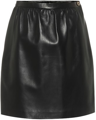 Gucci Leather miniskirt