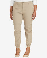Lauren Ralph Lauren Plus Size Twill Tapered-Leg Pants