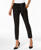 MICHAEL Michael Kors Belted Straight-Leg Ankle Pants