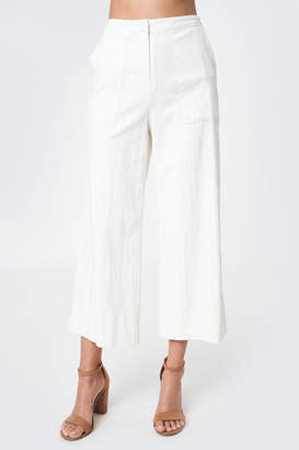 Sugar Lips Cropped Linen Trousers