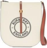 Burberry ANNE PRINTED LOGO CANVAS SHOULDER BAG