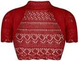 Forever Womens Short Sleeves Knitted Bolero Crochet Cardigan Shrug Top (ML = 10-12, )