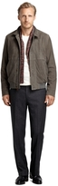 Brooks Brothers Suede Bomber