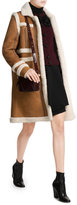 Carven Sheepskin Coat with Shearling