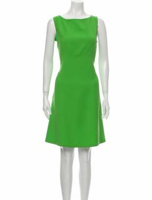 Balmain Virgin Wool Knee-Length Dress Wool