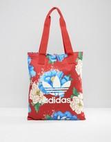 adidas Farm Print Floral Shopper Bag In Big Floral