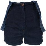 Diesel high-waisted dungaree shorts - women - Cotton/Polyester/Spandex/Elastane - XXS