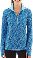 JCPenney Xersion Half-Zip Space-Dyed Reflective Pullover