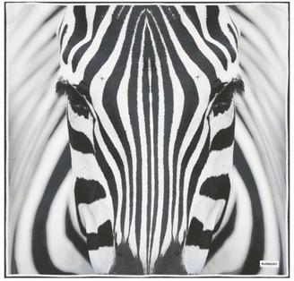 Burberry Silk Zebra Print Scarf