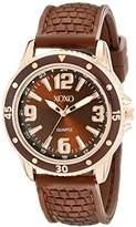 XOXO Women's XO8068 Brown Analog Silicone Strap Watch