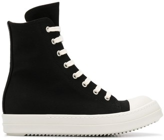 Rick Owens high-top canvas trainers