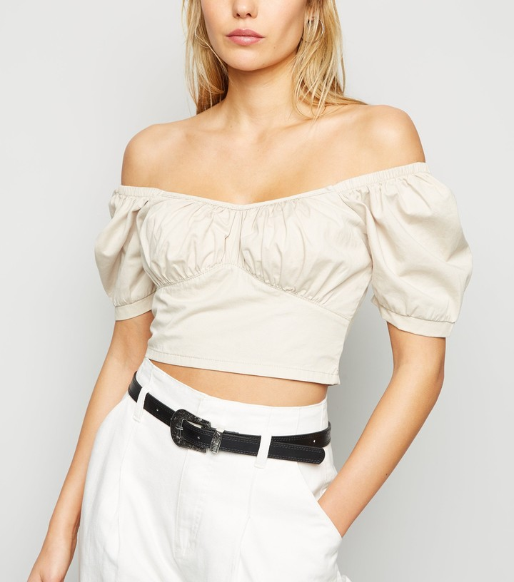 Thumbnail for your product : New Look Puff Sleeve Crop Top