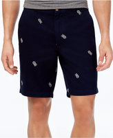 "Club Room Men's Embroidered Pineapple 9"" Shorts, Created for Macy's"