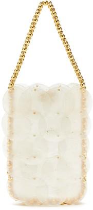 VANINA Cassie Noisette beaded top handle shell bag