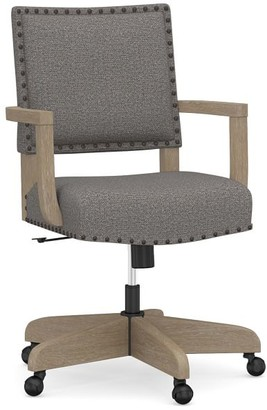 Pottery Barn Manchester Upholstered Swivel Desk Chair