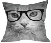 "DENY Designs Allyson Johnson Hippest Cat Throw Pillow Grey (20"" x 20"
