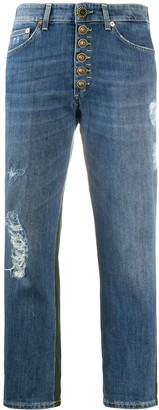 Dondup Koons bi-material jeans