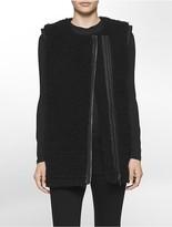 Calvin Klein Oversized Faux Shearling Vest