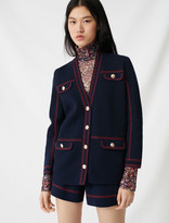 Maje Cardigan with contrasting topstitching