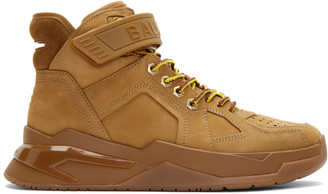 Balmain Brown B-Ball Sneakers