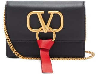 Valentino V-ring Mini Leather Cross-body Bag - Womens - Black
