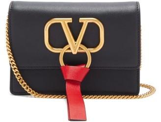 Valentino V-ring Mini Leather Cross-body Bag - Womens - Black