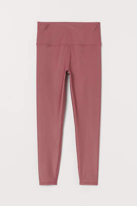 H&M Ribbed Sports Leggings - Pink