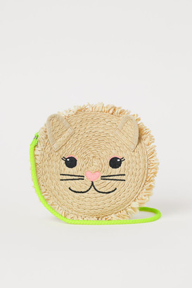 H&M Lion-shaped Straw Bag - Beige