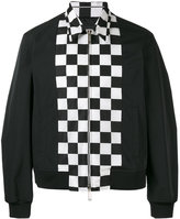 DSQUARED2 checkerboard panel bomber jacket - men - Polyamide/Polyester - 46