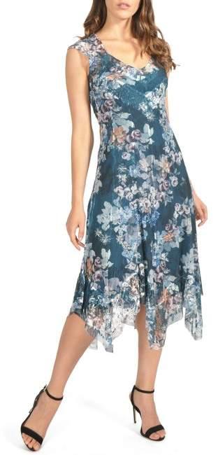 Handkerchief Hem Midi Dress (Regular & Petite)