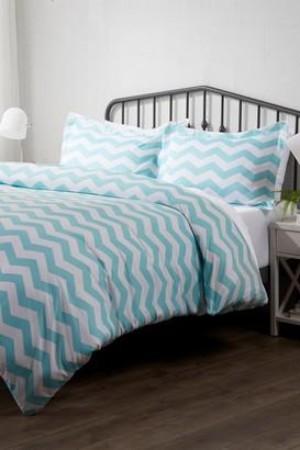 IENJOY HOME Home Spun Premium Ultra Soft Arrow Pattern 3-Piece King Duvet Cover Set - Turquoise