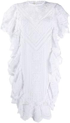 Isabel Marant Zanetti embroidered mini dress