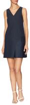 Tibi Annelie Linen Seamed Dress