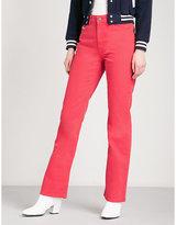 ALEXACHUNG Bootcut high-rise jeans