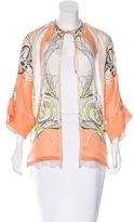 Roberto Cavalli Silk Printed Cardigan