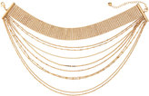 Lydell NYC Layered Multi-Row Choker Necklace, Gold