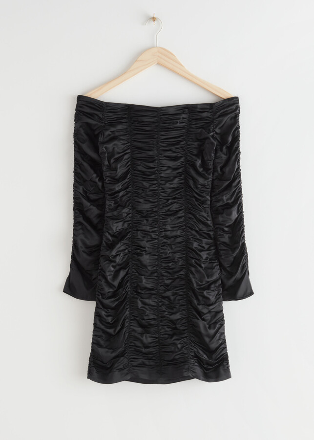 Thumbnail for your product : And other stories Fitted Gathered Off Shoulder Mini Dress