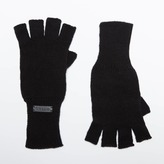 DSTLD Cashmere Blend Fingerless Gloves in Black